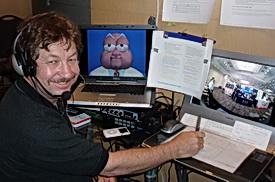 Gary Jesch in AstraZeneca booth