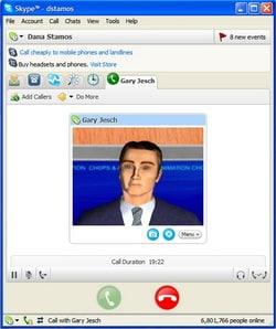 live animation on Skype
