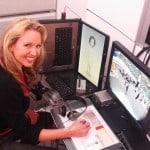 Kira Gurnee at controls of Digital Puppeteer